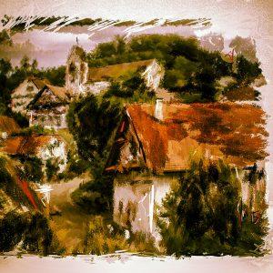 Blick zur Kirche (2 von 5 vergeben)