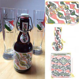 Jubiläumsbier: Etikette by Sold