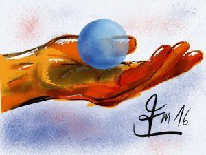 schwebende Kugel
