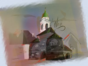 Baseltor mit Kathedrale