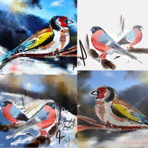Wintervögel in Bürchen