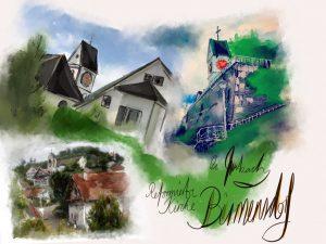 Birmi Collage / Postkartenvorlage